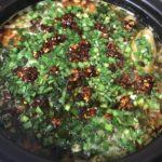 搾菜と豚肉の麻辣火鍋