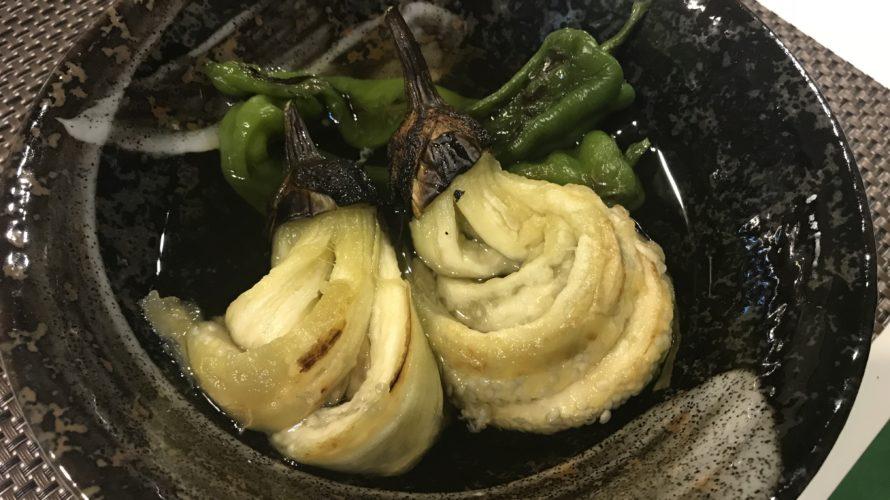 茄子と満願寺唐辛子の焼き浸し