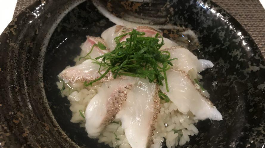 鯛飯と鯛茶漬け