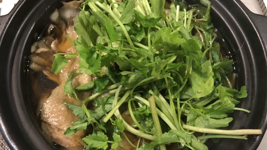 鶏肉とセリの鍋〜江戸の小鍋立て〜